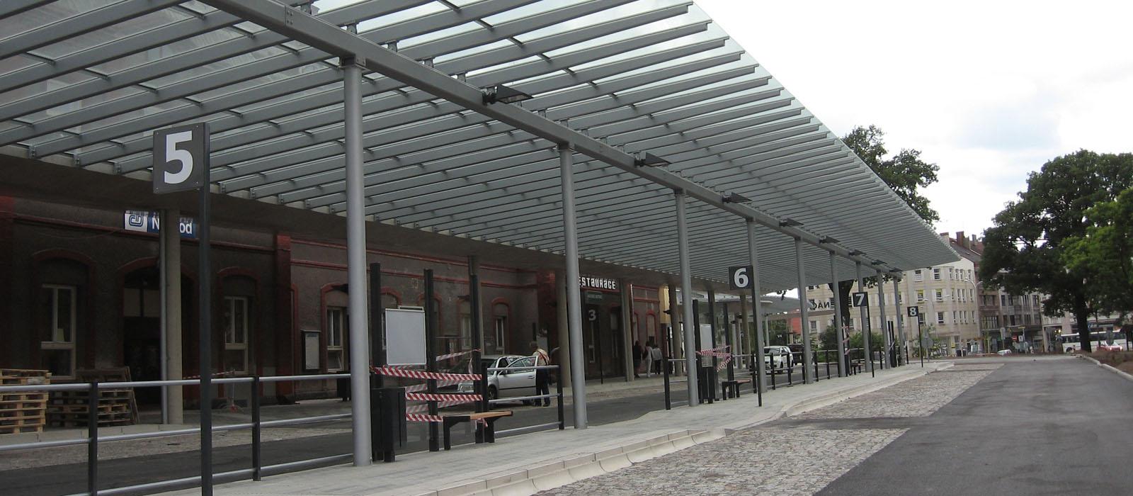 Realizace autobusového nádraží v Náchodě